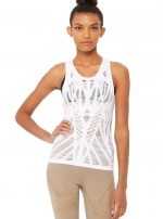 Топ длинный Vixen Fitted Muscle Tank White