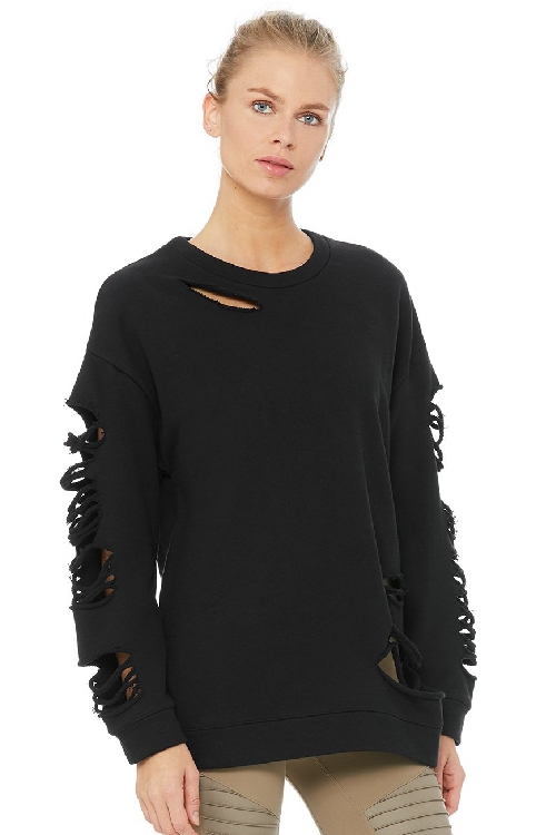 Свитшот Fade Long Sleeve Pullover Black