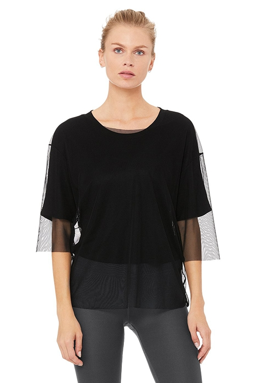 Длинный топ Layer-Up Short Sleeve Черный