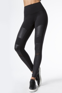 Легинсы High-Waist Moto Legging Black Glossy