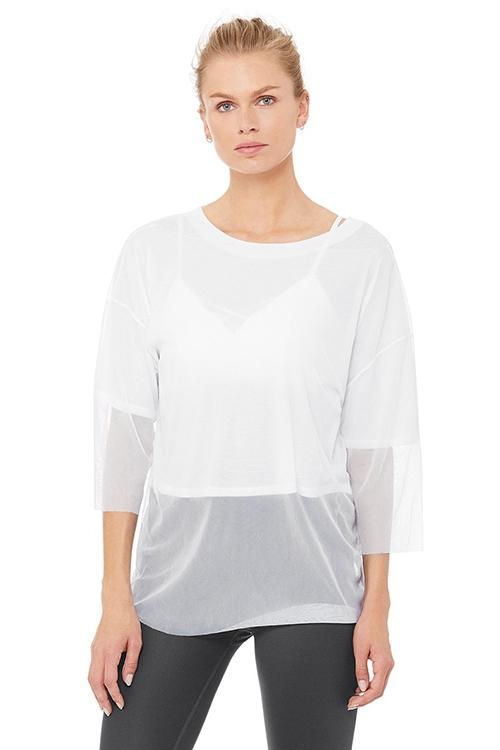 Длинный топ Layer-Up Short Sleeve белый