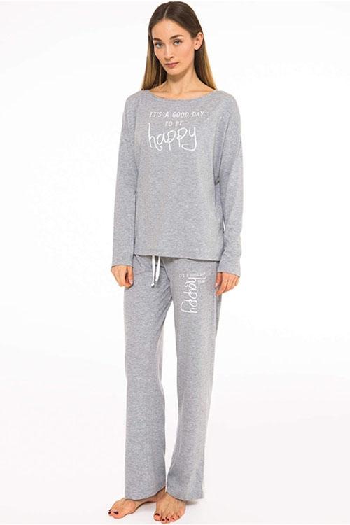 Пижама It's a good day серый