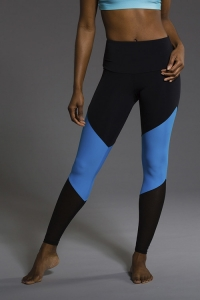 Легинсы для йоги High rise Track Indian Blue