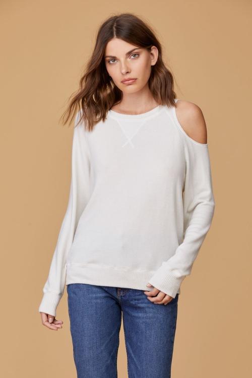 Свитер Brushed Heart on Sleeve Sweater белый