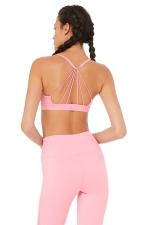 Топ короткий Sunny Strappy Bra Flamingo Glossy