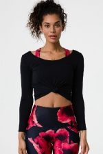 Лонгслив Long Sleeve Knot Crop Black