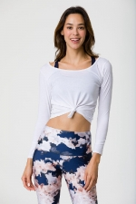 Лонгслив Long Sleeve Knot Crop White