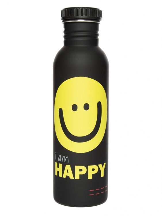 Бутылка для воды I'm happy черный