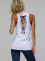 Топ спорт длинный Braid Tank White