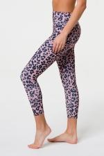 Легинсы High Rise Midi Rose Leopard
