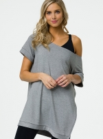 Туника Split Heather Gray