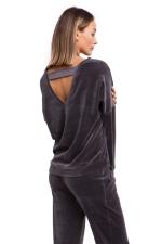 серый свитшот спортивный женский