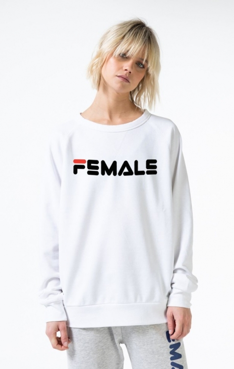 Толстовка Single Female Sport Cozy Белая