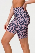 Шорты High Rise Rose Leopard