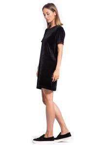 Платье из велюра черное