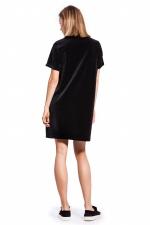 Платье из велюра черное купить в москве