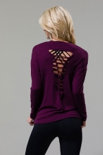 Лонгслив Braid Back Long Sleeve Aubergine