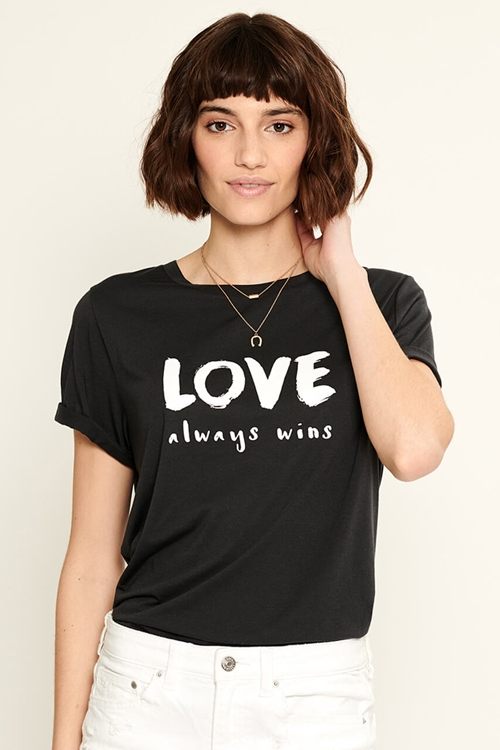 Футболка Loose Tee - Love Always Wins Black