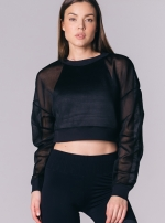 Топ Row Long Sleeve Black