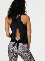 Длинный топ Tie Back Tank Black One