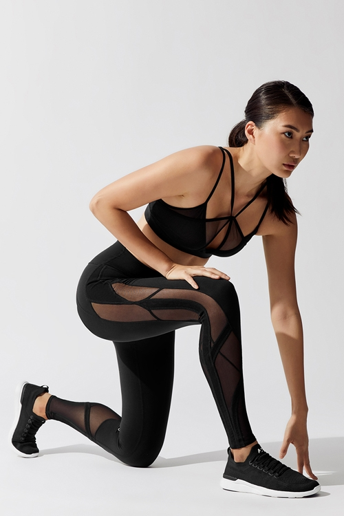 Легинсы High-Waist Mosaic Legging Black