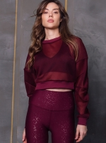 Топ Row Long Sleeve Black Cherry