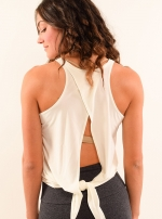 Топ длинный Tie Back Tank White One