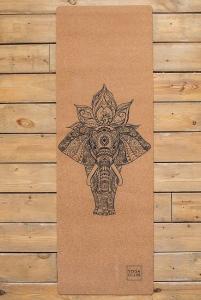 Коврик для йоги из натурального каучука Elefant