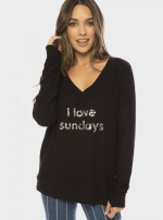 Свитшот I Love Sundays Sparkle