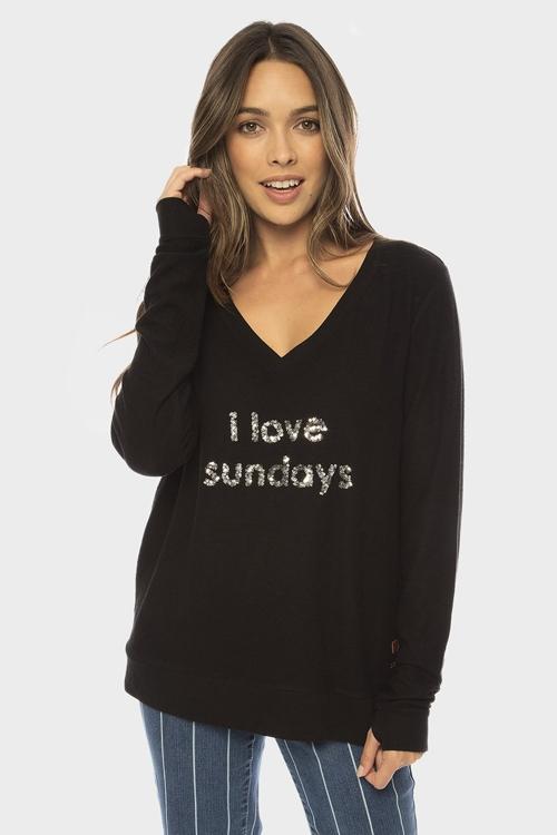 Свитшот I Love Sundays Sparkle