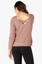 Пуловер In Line Reversible Розовый
