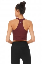 топ спорт короткий Unite Bra Tank Black Cherry