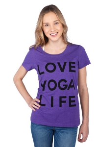 Футболка Love Yoga Life Фиолет