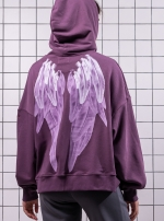 Худи oversize Purple Wings
