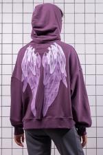 Худи oversize Purple Wings