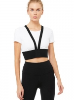 Топ Revolve Crop White/Black