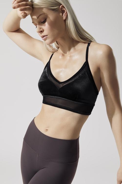 Топ для фитнеса Luxe bra black