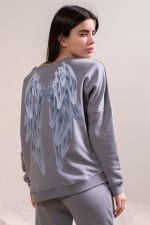 Свитшот Wings Light Grey