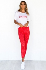 Футболка Box Tee Love Red