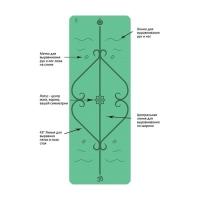 Мат для йоги Lepomate yoga mat зеленый