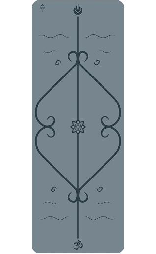 Мат для йоги Lepomate yoga mat серый