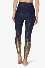 Легинсы спорт синие Alloy Ombre High Waisted Midi Legging