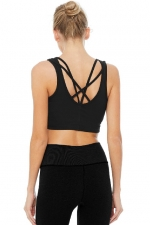Топ спорт Delicate Twisted Bra Tank Black