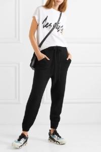 Кашемировые брюки черные