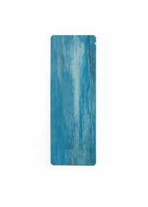 Коврик для йоги из натурального каучука Samurai Marbled голубой