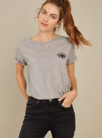 Футболка Loose Tee Evil Eye Grey