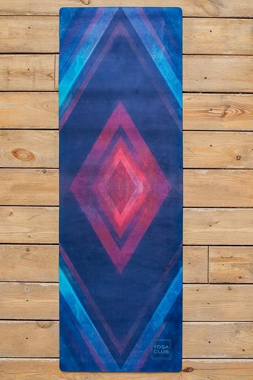 Коврик для йоги из натурального каучука Geometry синий