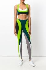 легинсы для фитнеса зеленые